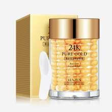 Venzen 24k ouro creme para os olhos hidratante anti inchaço anti rugas remover círculo escuro anti-envelhecimento cuidados com os olhos das mulheres
