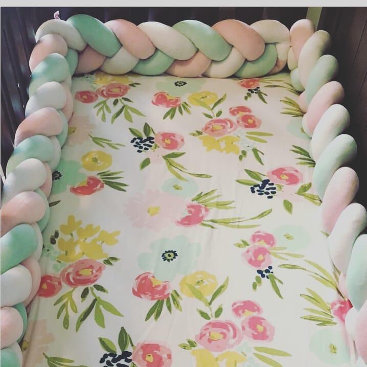 1M/2M/3M Baby Bed Room Decoration Baby Bed Bumper Knot Cushion Pillow Braided Crib Bumper Tour De Lit Bebe Tresse