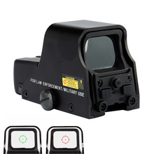 스파이크 매트 블랙 전술 1X22mm 홀로그램 반사 빨간색 녹색 점 시력 야외 사냥 소총 범위 밝기 조절 가능.