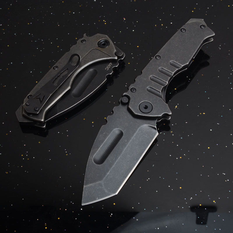 to EDC Survival High folding camping Utility outdoor Quality pocket handle 440 steel tactical hunting blade knives knife