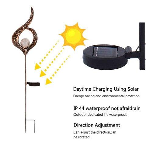agua solar lampada do jardim para