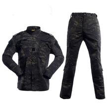 Multicam สีดำพรางชุดทหารชุด Tatico ยุทธวิธีทหาร Airsoft Paintball อุปกรณ์เสื้อผ้า