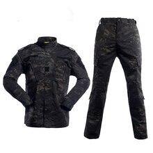 Uniforme militaire noir Multicam, combinaison de Camouflage Tatico Camouflage militaire tactique Airsoft, vêtements déquipement de Paintball