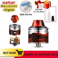 Original Aleader Rocket Resin RDA 24mm electronic cigarette Tank with 510 Drip Tip Dual adjustable airflow atomizer Vape tank