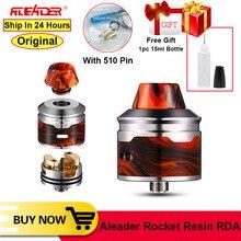 オリジナル aleader ロケット樹脂 rda 24 ミリメートル電子タバコタンクと 510 ドリップヒントデュアル調節可能な気流アトマイザー吸うタンク