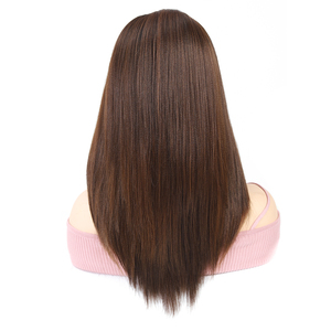 Image 4 - Ombre Brown Synthetic Lace Front Wigs For Women High Temperature Fiber Hair X TRESS Straight Lace Wig Free Part With Baby Hair