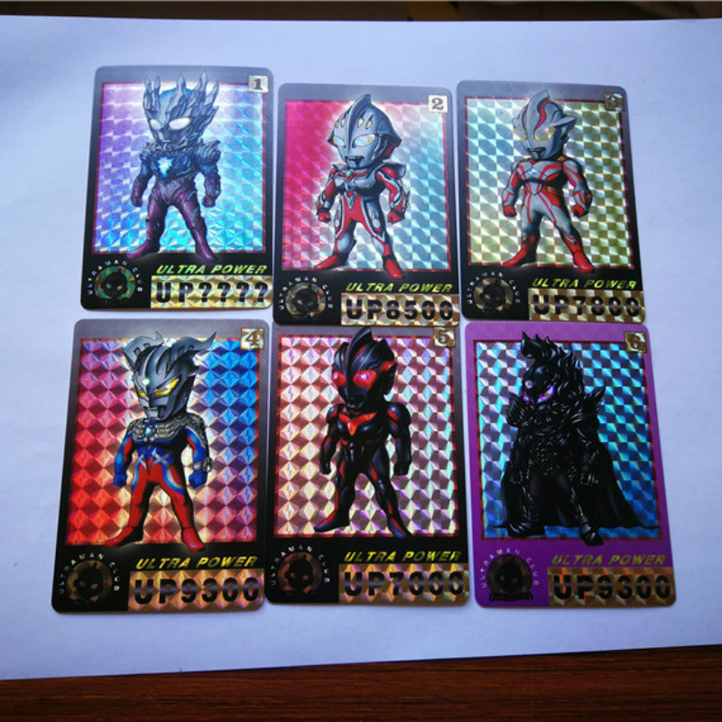 6pcs/set Ultraman Toys Hobbies Hobby Collectibles Game Collection Anime Cards Free Shipping