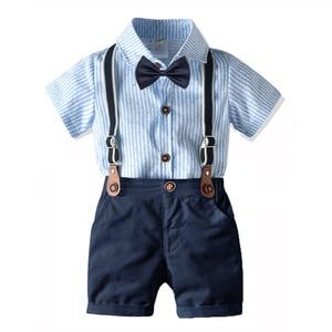 Цельнокроеное платье для маленьких мальчиков, комплект одежды с галстуком-бабочкой, костюм Харадзюку, вечерние платья из четырех предметов...
