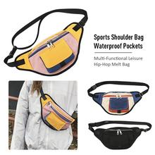 Multi-Functional Leisure Hip-Hop Melt Bag Men's Women Messenger Bag Sports Shoulder Bag Waterproof Pockets hip bag