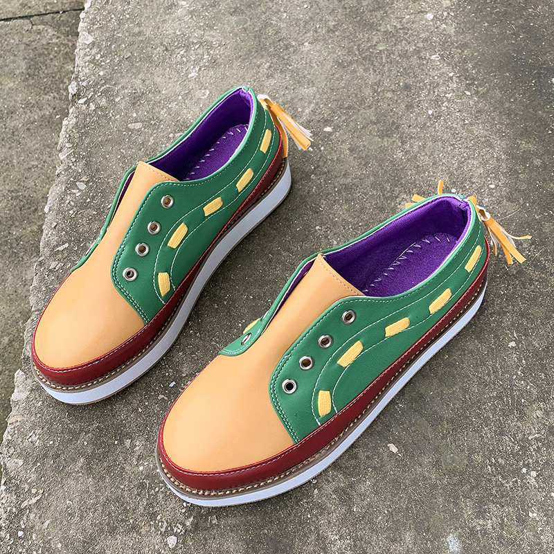 Woman Flats Shoes Spring Mixed-Colors Fashion Rubber Casual for Round-Toe Female Eu 35-43