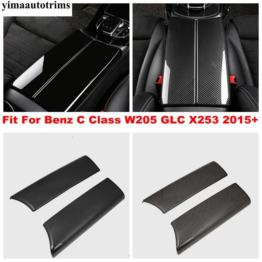 Купить подлокотник для benz c class w205 glc x253 2015 2020 черный/углеродное