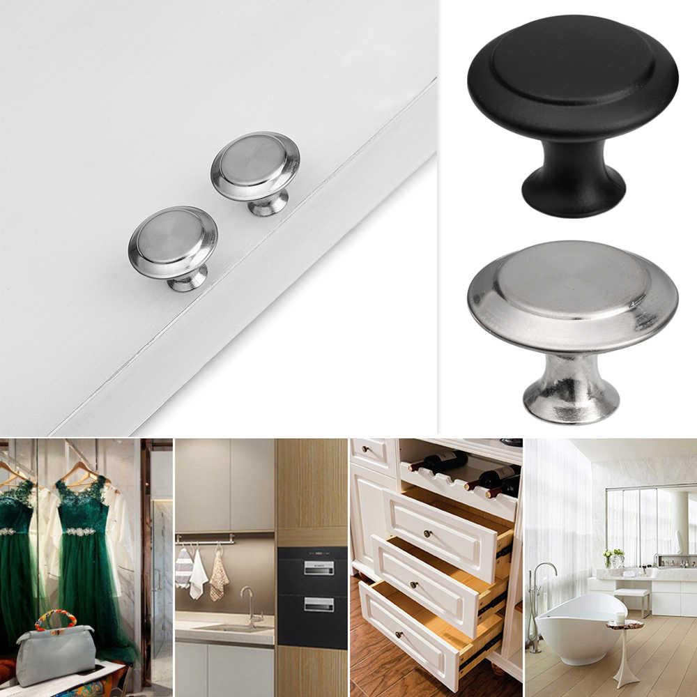 2 adet yuvarlak mutfak dolabı çekmecesi topuzu dolap kapı kolu çeker dolap Dresser kolları vidalı donanım mobilya montaj