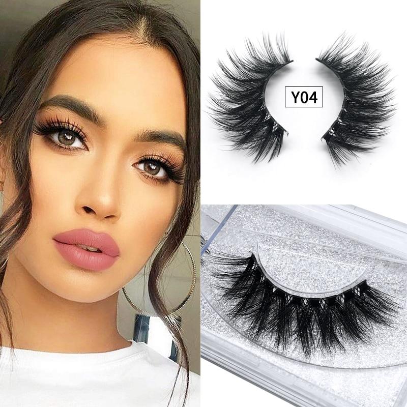 1 Pairs 3D Profession 10 Types Mink Hair False Eyelashes Natural  Eyelashes Crisscross Full Strip Lashes Handmade Eyelashes