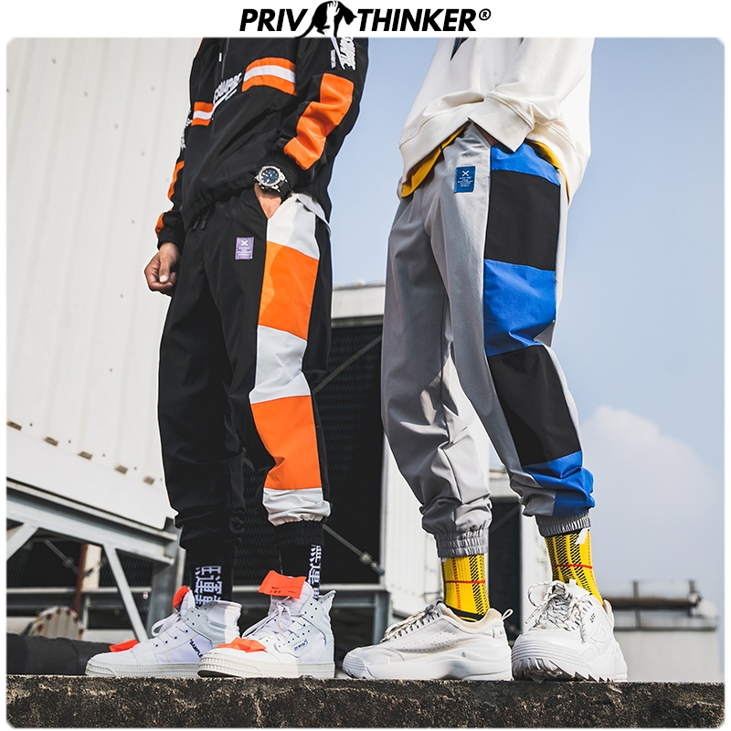 Privathinker Men Fashion Hip Hop Patchwork Casual Harem Pants Mens Design Black Street-style Joggers Male 2019 Autumn Pants 3XL