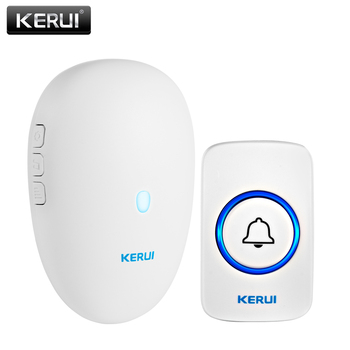 KERUI Smart Doorbell Home Security Welcome Wireless Doorbell 57 Chime 80m Remote Control EU US UK Plug Wireless Button Door Bell
