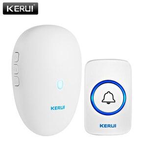 KERUI Smart Doorbell Home Security Welcome Wireless Doorbell 57 Chime 80m Remote Control EU US UK Plug Wireless Button Door Bell