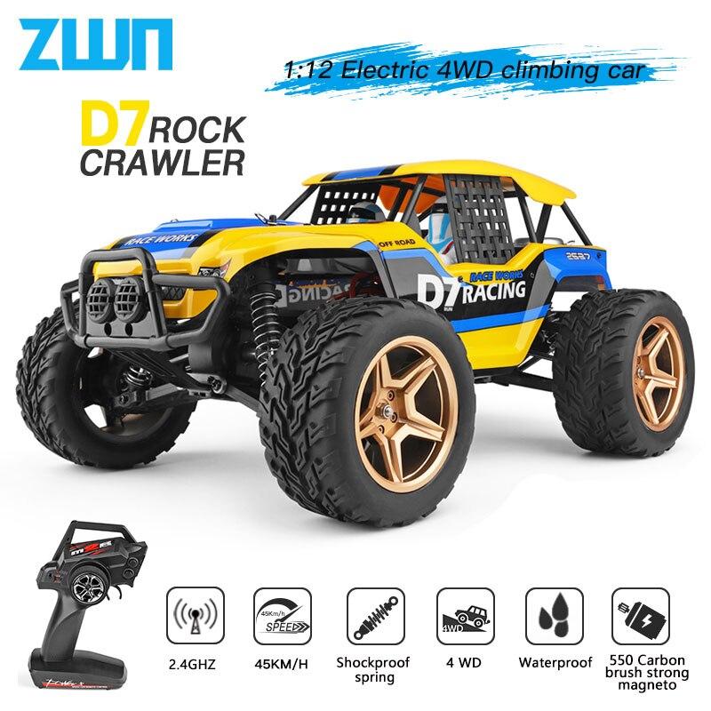 WLtoys 12402a 12428 12429 1:12 samochód Rock clawler zdalnie sterowany samochód RC 50km/godz 4WD elektryczny, wysoki prędkość samochodu Off Drift uliczny pilot zdalnego sterowania zabawka dla dzieci