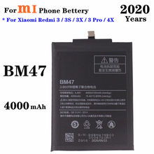 BM47 Battery 4000mAh For Redmi 4x Battery Xiaomi Redmi 3 3S 3X 3 Pro Phone Battery High Quality Replacement Batteries