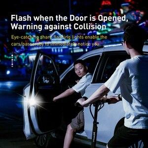 Image 2 - Baseus 2 قطعة 6 المصابيح سيارة فتح الباب تحذير ضوء السلامة المضادة للتصادم أضواء وامضة مصباح إشارة المغناطيسي اللاسلكية