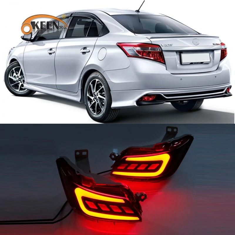 1set Led Rear Bumper Reflector For Toyota Vios 2016 2017 2018 2019 Parking Warning Brake Tail Lamp Rear Bumper Reflector Car Light Assembly Aliexpress