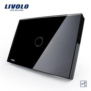 Image 1 - LIVOLO الولايات المتحدة الاتحاد الافريقي القياسية اللمس التبديل ، 2 way مفاتيح corss اللمس مفتاح الإضاءة عن بعد ، لوحة الكريستال والزجاج الأبيض ، والتحكم اللاسلكي