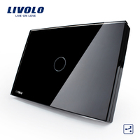 LIVOLO US AU standard Touch switch 2 way corss switches Touch remote Light Switch White Crystal Glass Panel wireless control touch control switch light control switch touch lighting control -
