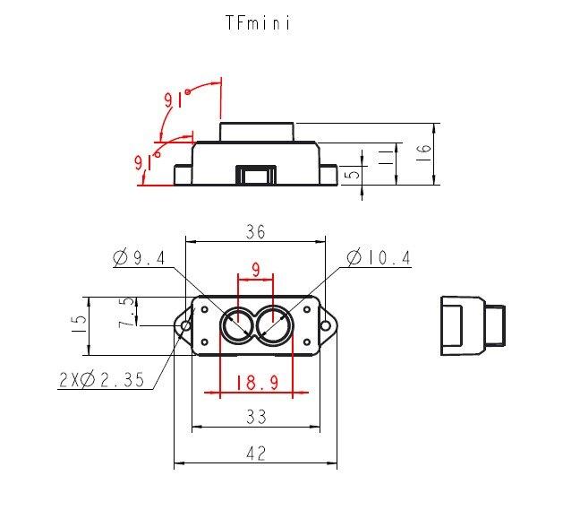 finder sensor módulo único ponto micro variando