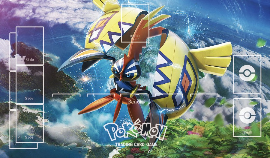 Takara Tomy PTCG Accessories Pokemon Playmat Table Card Game Tapu Koko GX Toys For Children