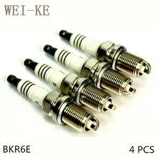 O 4 PCS Liga de Níquel Spark Plug Para MERCEDES-BENZ W169 W245 B170 180 NGT B150 A150 160 170 180 200 160 170 180 200 BKR6E