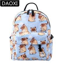 DAOXI Cute Pug Mini Backpack for Girls Waterproof Shoulder Bag Teenager Small Flowers Gift DXMNSB-5