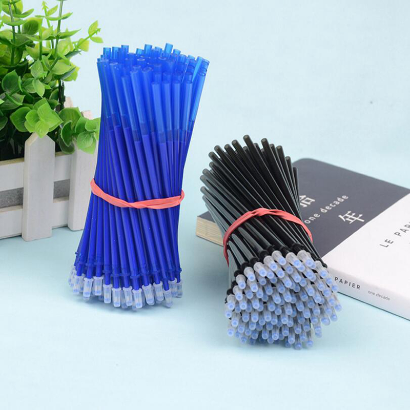 Erasable Pen Refill Set Office Gel Pen 0.5mm Rod Magic Erasable Pens For School Supplies Writing Tool Gift Blue/Black/Purple Ink