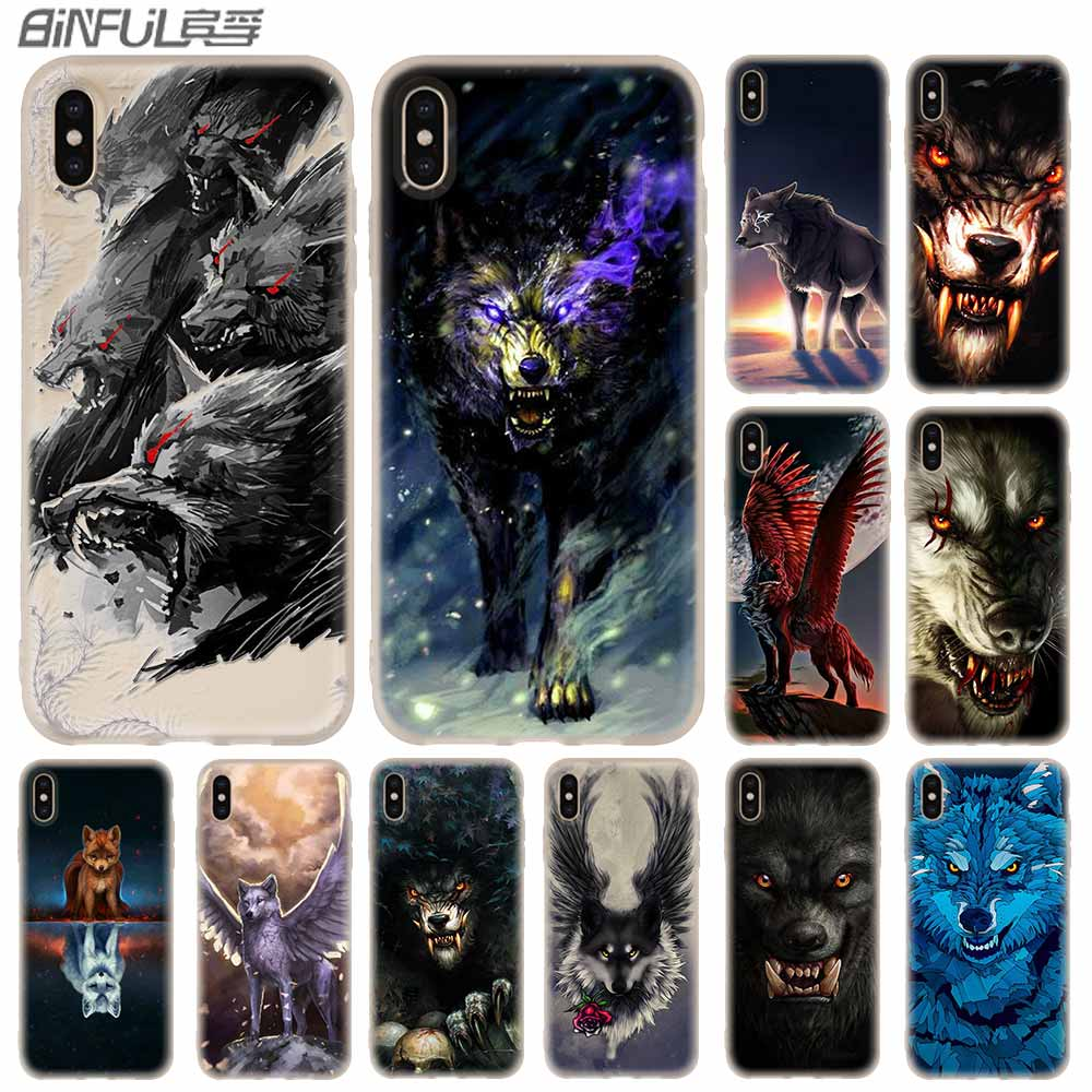 white wolf art Bozkurt Nefesi Cover <font><b>Baseus</b></font> Clear Case Silicone soft for <font><b>iPhone</b></font> X 11 Pro XS Max XR 6 7 8 Plus 5 4 S Cases Funda image