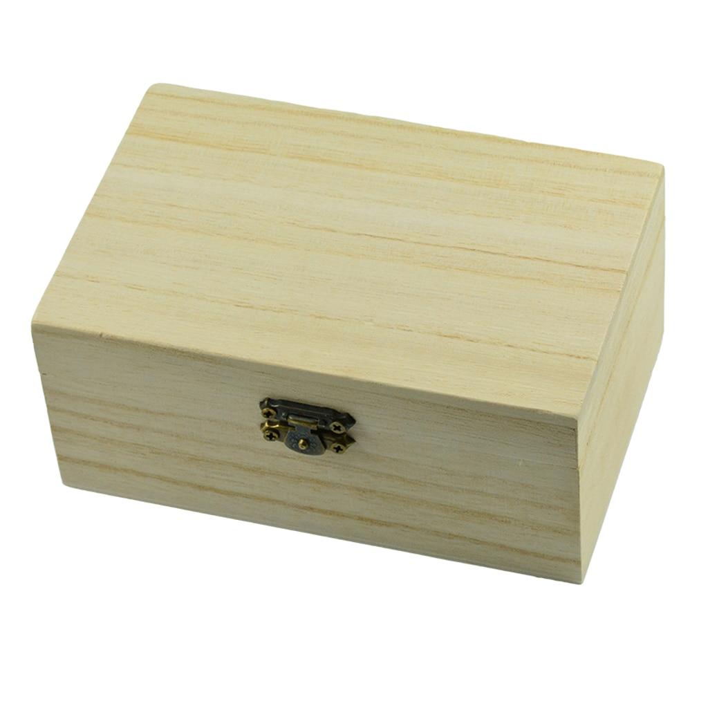 DIY Jewelry Storage Wooden Treasure Ring Bracelet Gift Box Chest Decoupage Craft Box Memory Crafts шкатулка для украшений