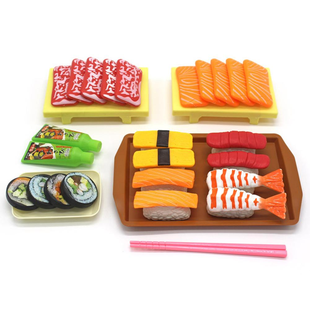 309.0¥ 12% OFF Simulation Sushis Food Pretend Play Toy Realistic Playset Interactive Cuisine Set Ki...