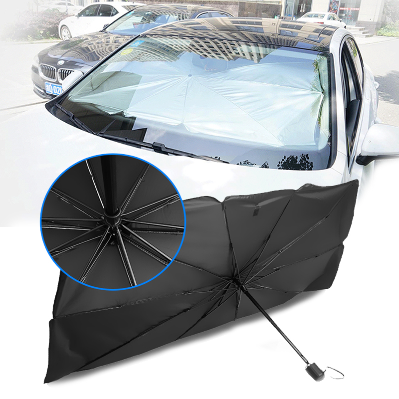 79x145 Car Sun Shade Auto Front Window Sunshade Covers Protector Interior Windshield Protection Accessories Foldable umbrella