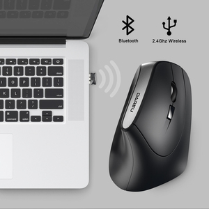 Image 2 - DAREU LM108 Bluetooth 4.0+2.4Ghz dual mode Wireless Mouse 6 button Ergonomic skin type Vertical Mice For PC Laptop Computer
