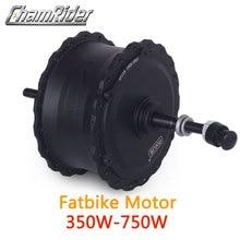 48v 350w 750w de alta velocidade sem escova do cubo da engrenagem motor gordo da bicicleta e movimentação da roda traseira do motor da bicicleta para 175 mm 190mmfork mxus marca