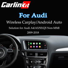 Carlinkit Wireless &USB Apple CarPlay Decoder for Audi A4 A5 Q5 Non-MMI muItimedia interface & Android auto Retrofit Kit