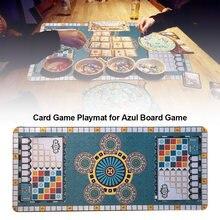 Tapete de cartas de póker de 70x30cm, tapete de juego limpio y seguro, cojín de goma suave, almohadilla de juego de mesa para juego de mesa Azul