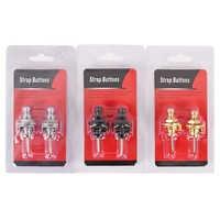 2 teil/satz Gitarre Strap Lock Straplock Straplok Taste für alle Akustische Elektrische Bass Guitar Strap 3 Farben