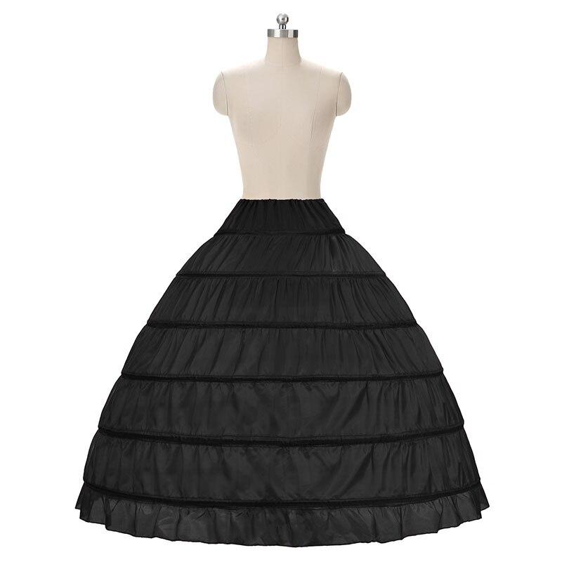 Enaguas de 6 aros para vestido de novia, tutú hinchado enagua nupcial, accesorios, faldas