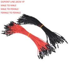 100 pces 20 cm fêmea para macho fêmea para macho 1 pino duplo cabeça dupont linha dupont conector jumper fio 2.54mm passo 1pin cabo