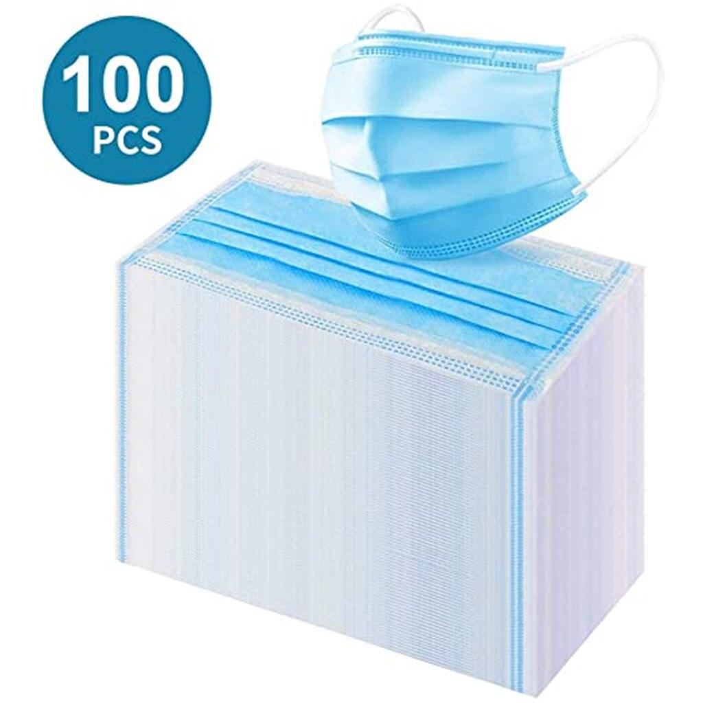 Коробка маски Mondkapjes с дышащими синими масками, Экологически чистая маска Mondmasker Mascherine, одноразовая маска