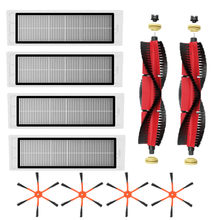2 x Detachable Main Brush+4 x Orange 6-Arm Side Brush+4 x Filter for Xiaomi / Roborock S50 S51 S55 S5 S6 Robot Vacuum Cleaner(China)