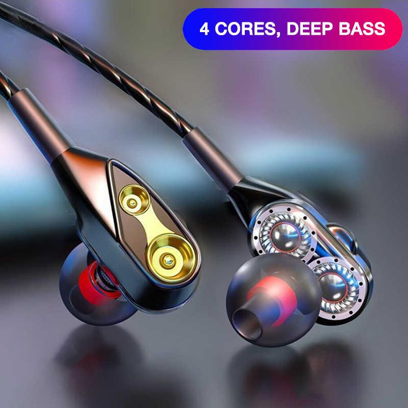 Eardeco 有線での電話のためのステレオマイクデュアルドライブ低音ヘッドセット携帯耳 iphone xiaomi