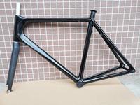 마지막 재고 새로운 700C 52CM 로고 없음 탄소 도로 자전거 프레임 탄소 자전거 포크 자전거 부품과 전체 탄소 레이싱 자전거 프레임