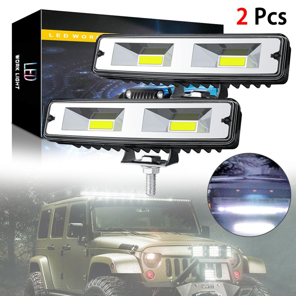 1/2Pcs 18W 12V COB LED Work Light Bulb Spot Beam Bar For Car Truck SUV Off Road Driving Fog Lamp LED Work Lights Spotlights