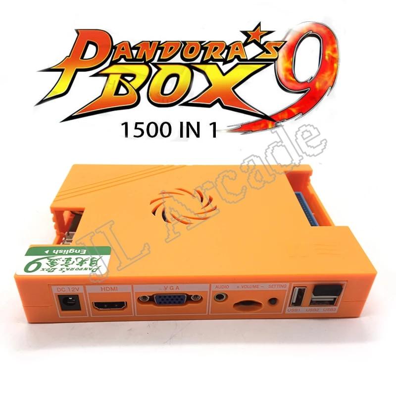 Pandora box 9 1500 in 1 family arcade game motherboard multi game pcb HDMI  VGA usb joystick for pc tv ps3 pandora box 9