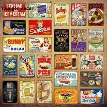 Wonder Bread Metal Signs Pies hechos a mano Vintage Poster cocina decoración Café Bar tienda placa decorativa comida cocinar pared pegatina YI-154