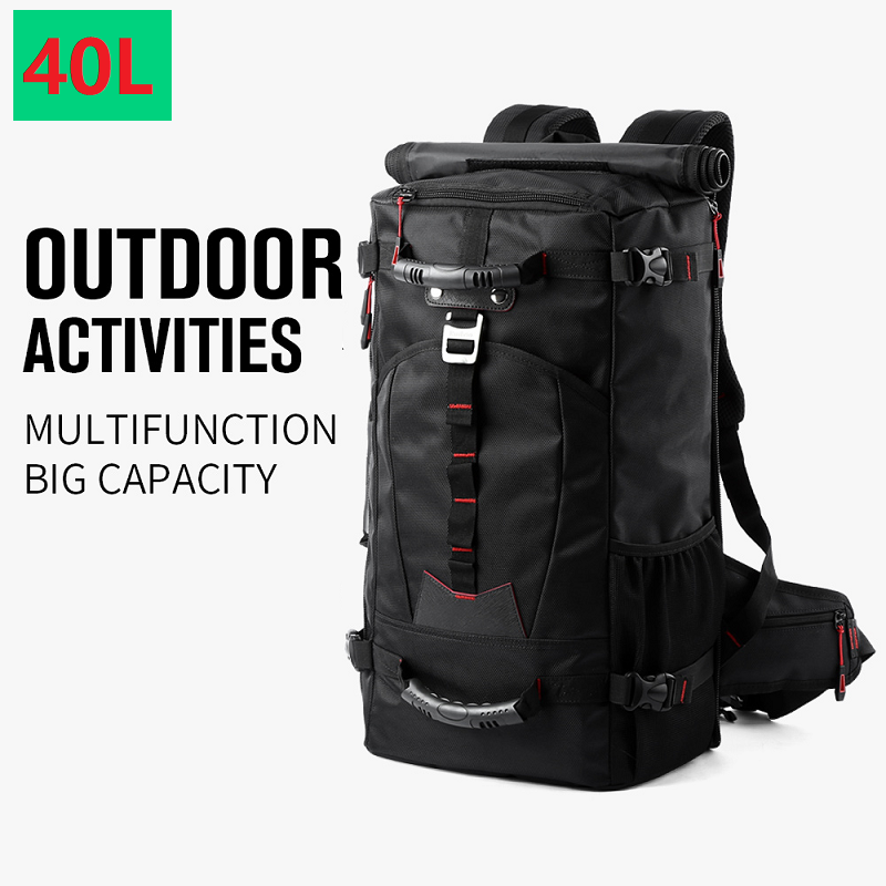 MOYYI 40L Waterproof Travel Backpack Men Women Multifunction 15.6 Laptop Backpacks Male Outdoor Luggage Bag Mochila Best Quality